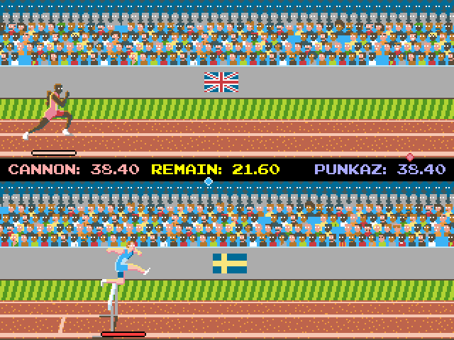play free track field games online